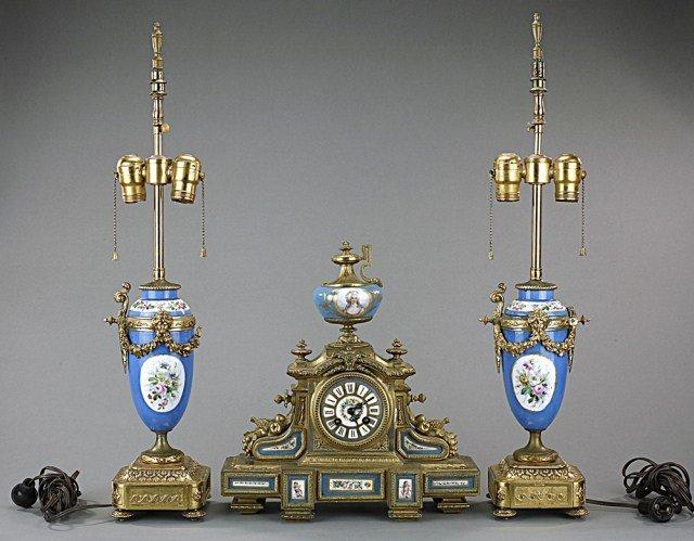 Three Piece Metal Clock Set