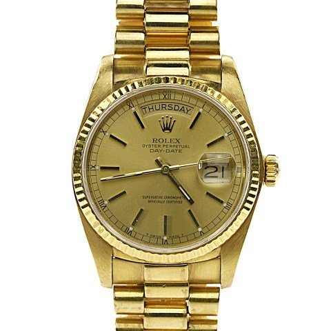 ROLEX MEN'S  PRESIDENT YELLOW GOLD WATCH