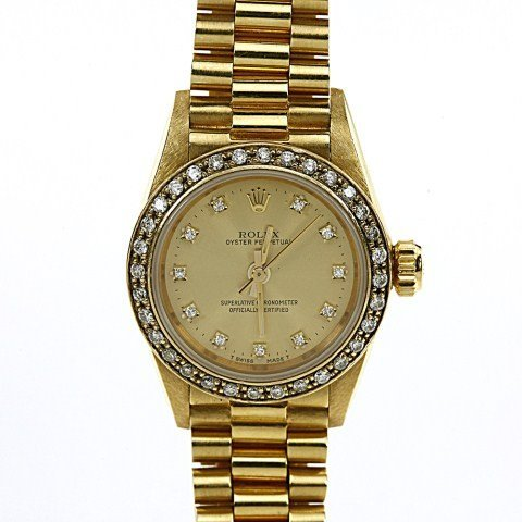 ROLEX WOMEN'S  PRESIDENT YELLOW GOLD WATCH