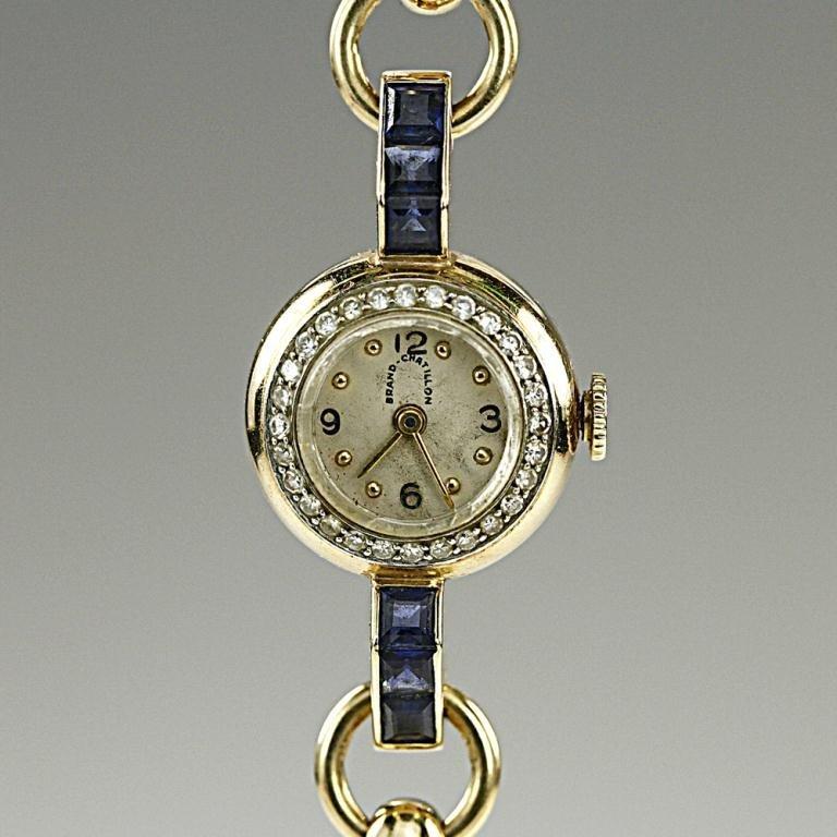 14k Lady's Gold Bracelet Wristwatch