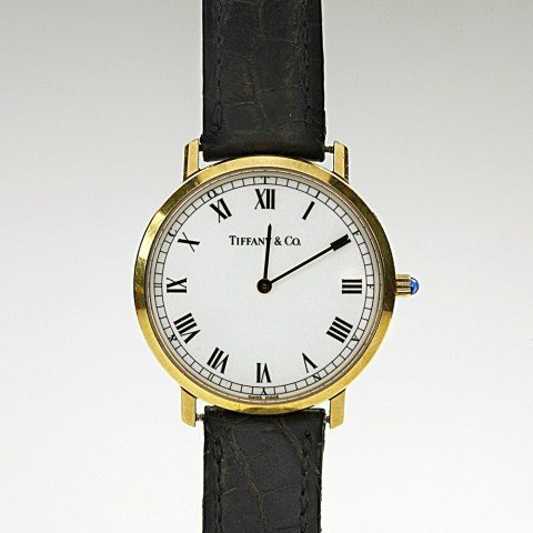 MEN'S TIFFANY & CO. 18K GOLD QUARTZ WATCH