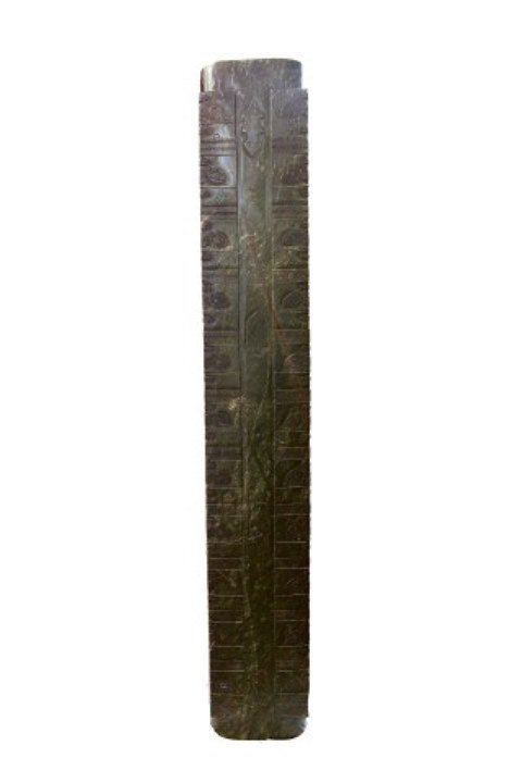 TALL CYLINDRICAL JADE CONG PRAYER PEDESTAL