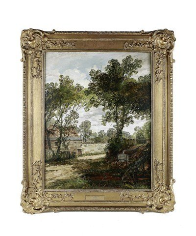 ENGLISH OIL PAINTING ON CANVAS BY JAMES B DALZIEL