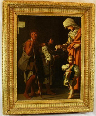 18TH C. ITALIAN OLD MASTER OIL PAINTING ON CANVAS