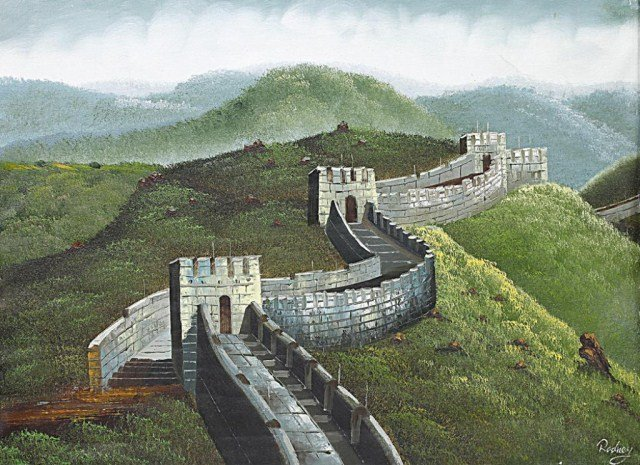 OIL PAINTING ON CANVAS OF THE GREAT WALL OF CHINA