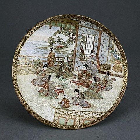 19TH CENTURY JAPANESE SATSUMA PLATE