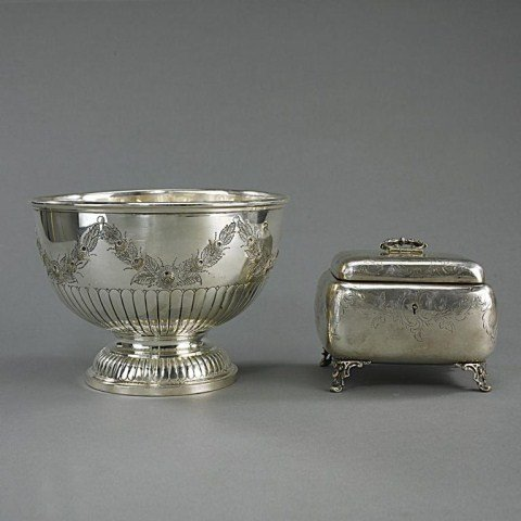 AUSTRIAN STERLING SILVER JEWELRY BOX AND BOWL