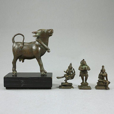 SET OF FOUR INDIAN BRONZES