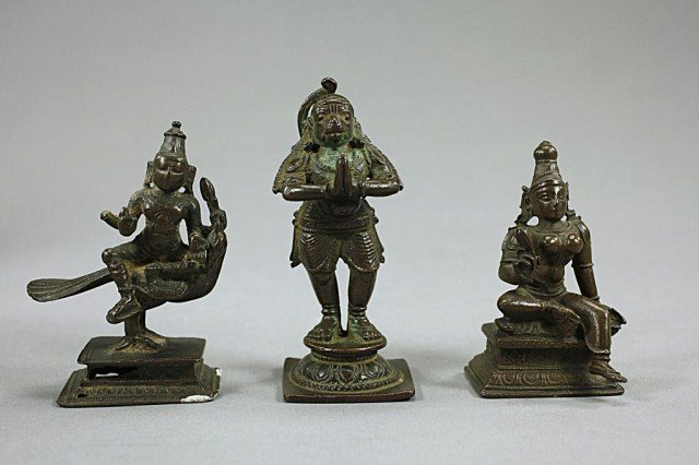 SET OF FOUR INDIAN BRONZES - 2