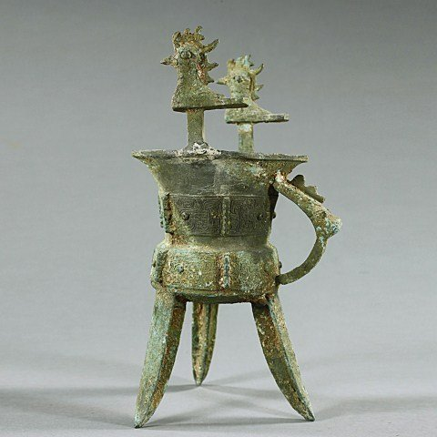 CHINESE BRONZE LIBATION CUP