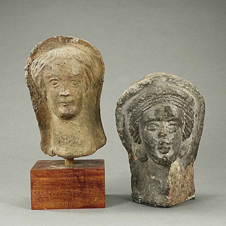 TWO TERRACOTTA BUSTS