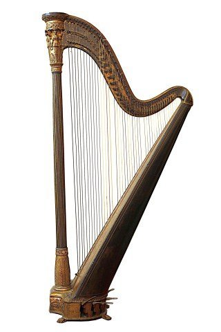 MAGNIFICENT ANTIQUE DOUBLE PEDAL HARP BY J. A. STUMPFF