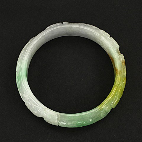 CHINESE MULTICOLORED JADE BANGLE