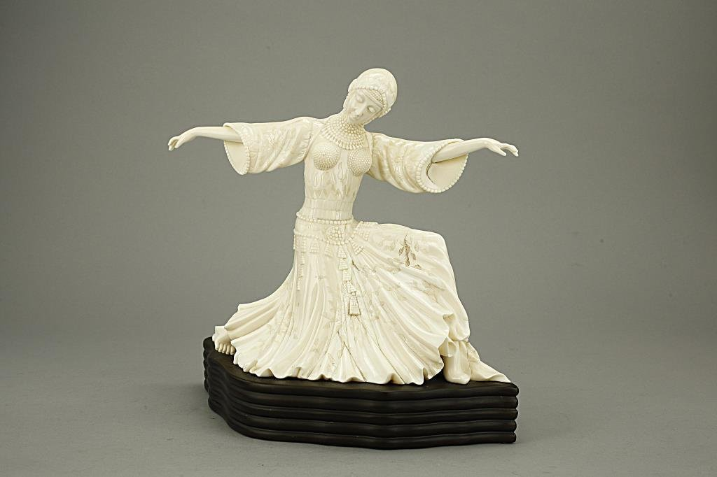 Superb Ivory Figural Carving, of a Dancing Lady