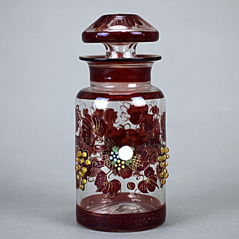 Bejeweled In-lay Two-colored Venetian Tea Caddy