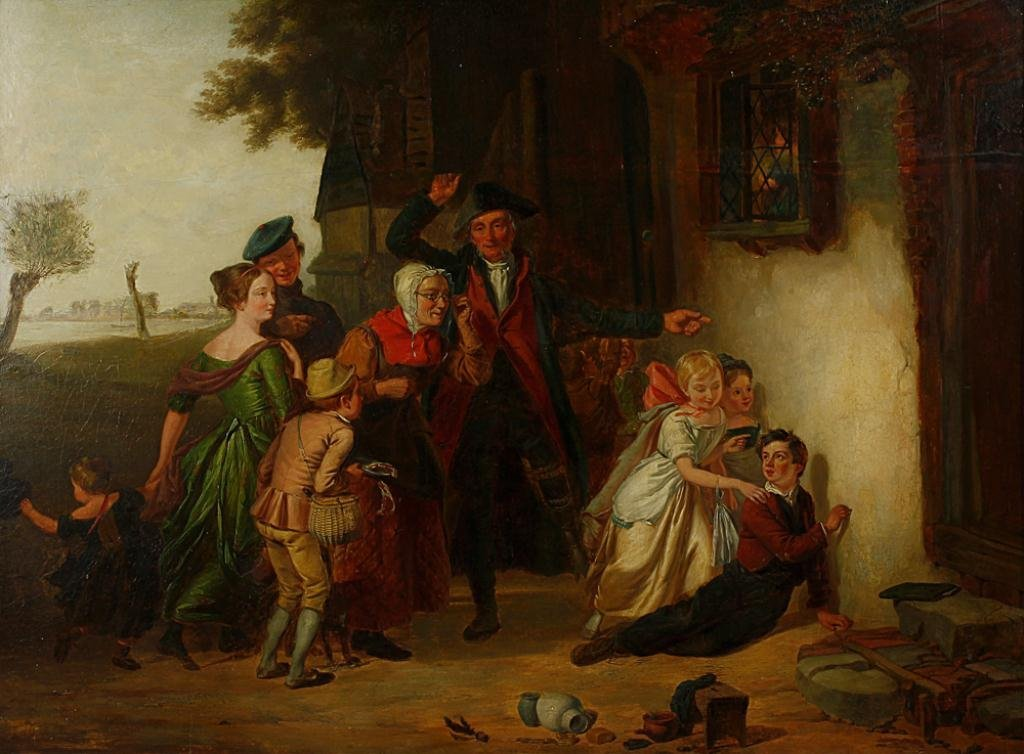 English Oil Painting on Canvas