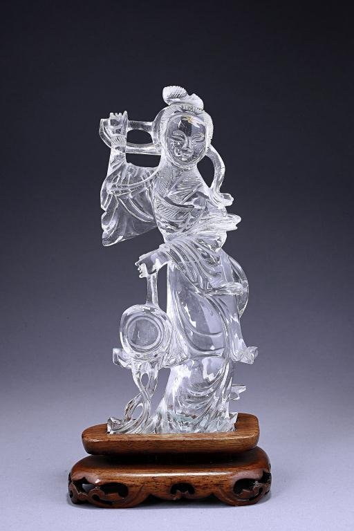 Chinese Crystal Figure of a Beauty