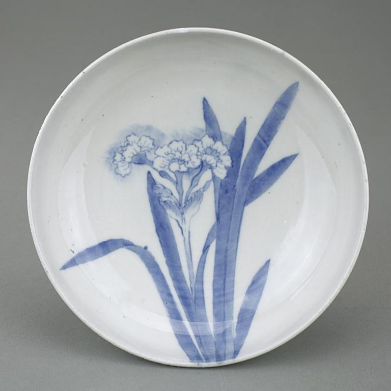 Japanese Blue And White Nabashima Bowl