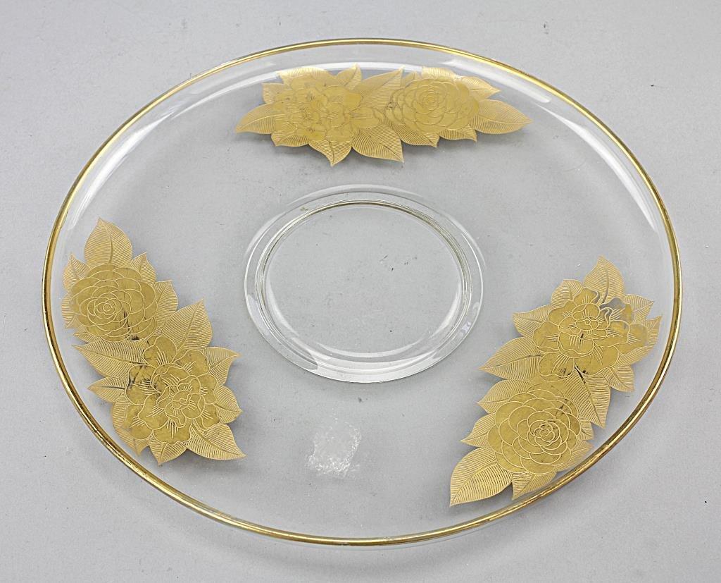 European Gilt-glass Centerpiece Dish