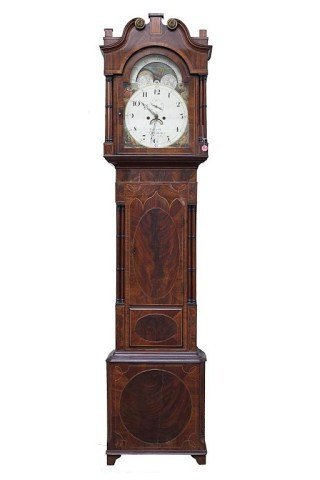EARLY 19TH CENTURY ENGLISH LONG CASE CLOCK