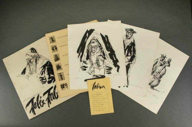 FOUR FRAMED LITHOGRAPH PRINTS SIGNED FELIX FABIAN - 6