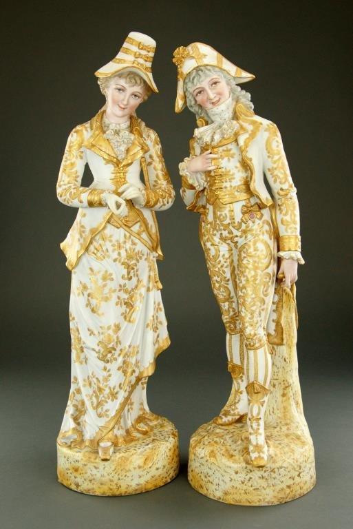 PAIR OF LARGE FRENCH PORCELAIN FIGURES