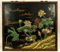 19TH CENTURY CHINESE CLOISONNE PLAQUE