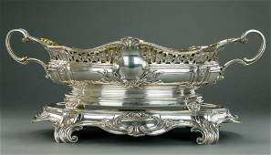 19TH C. GERMAN STERLING SILVER CENTERPIECE BOWL