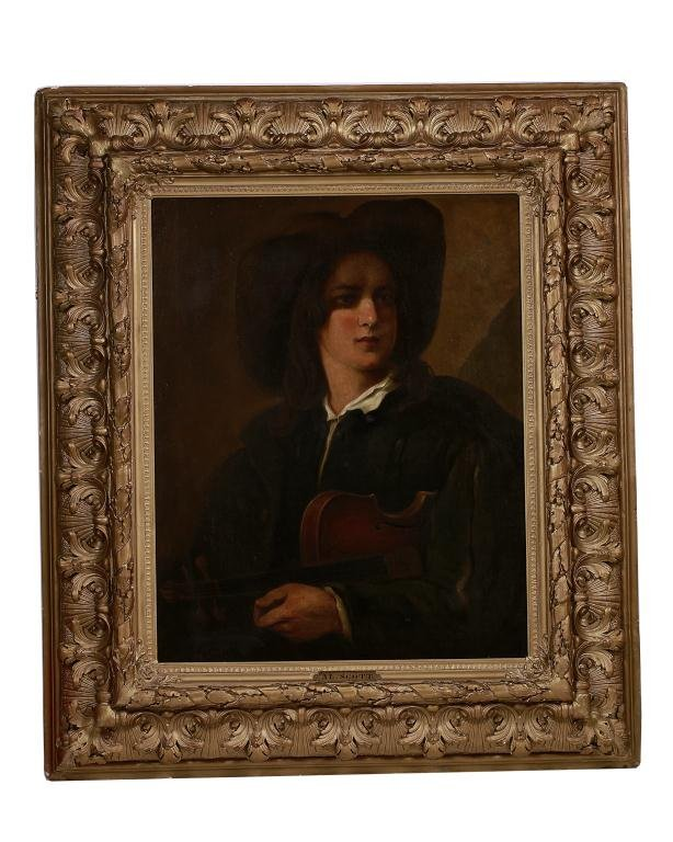 FRAMED 19TH CENTURY PORTRAIT OF A MUSICIAN