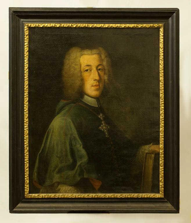 EARLY 18TH C. FRAMED OIL PAINTING OF A NOBLEMAN