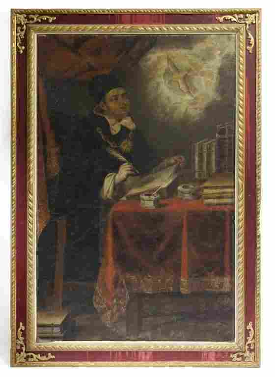 18TH CENTURY FRAMED OIL ON CANVAS PAINTING