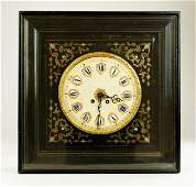 19TH CENTURY FRENCH INLAID WALL CLOCK