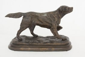 Spelter Figure Of A Hunting Dog