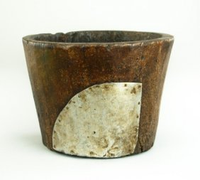 Antique Chinese Wooden Brushpot
