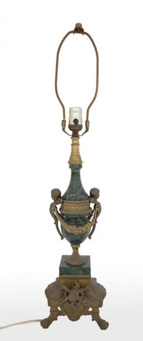 Lamp With Gilt Bronze Details
