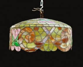 Art Nouveau Style Stained Glass Shade