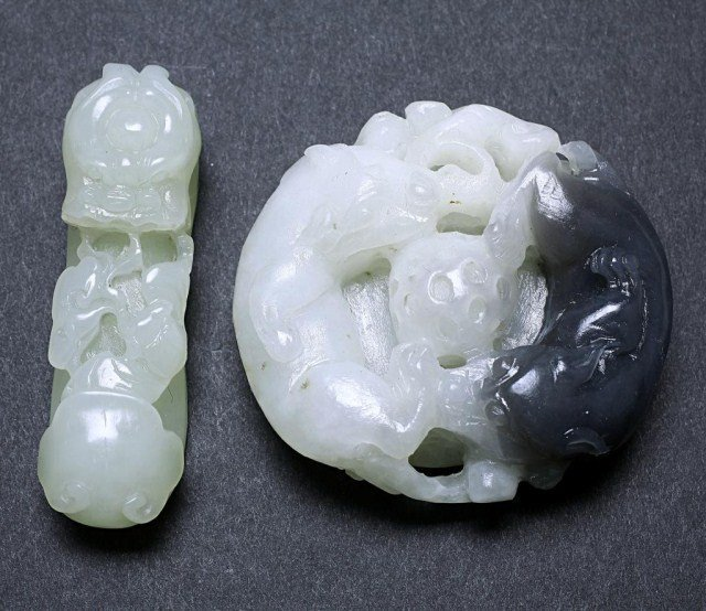 GROUP OF FIVE ASSORTED CHINESE PENDANTS - 4