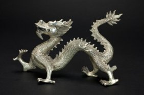 Chinese Metal Figure Of A Dragon