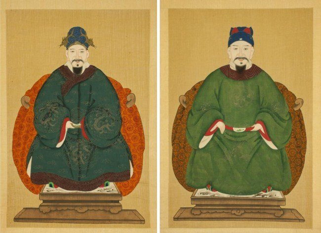 PAIR OF CHINESE PAINTINGS OF SCHOLARS ON PAPER