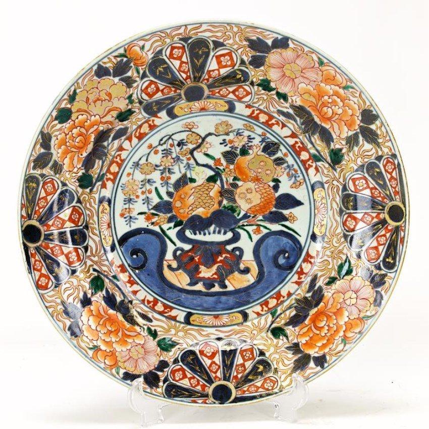 18TH CENTURY CHINESE IMARI CHARGER