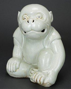 Japanese Hirado Porcelain Monkey