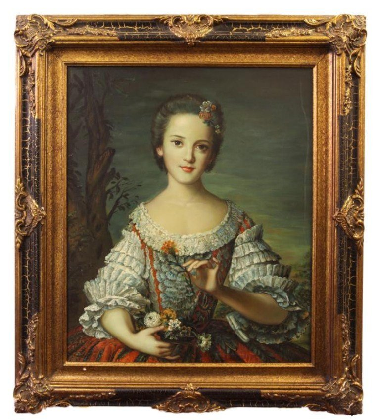 PORTRAIT OF YOUNG WOMAN HOLDING FLOWERS