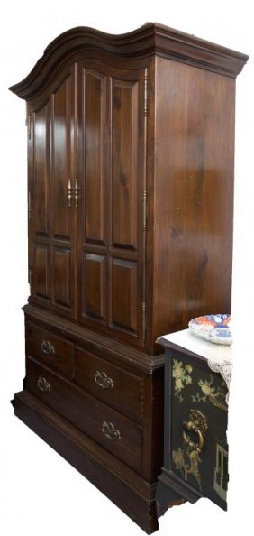 Large European Carved Mahogany Armoire