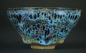 Chinese Polychrome Glazed Pottery Bowl