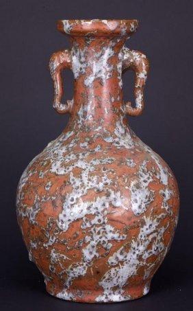 Chinese Heavily Glazed Pottery Vase