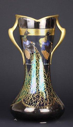 French Limoges Lustre Vase