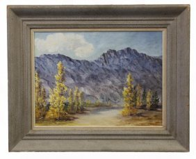 Framed Oil Painting On Canvas Of Landscape