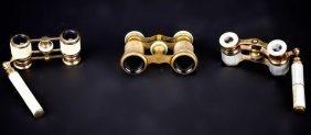 Three Mother Of Pearl Opera Binoculars