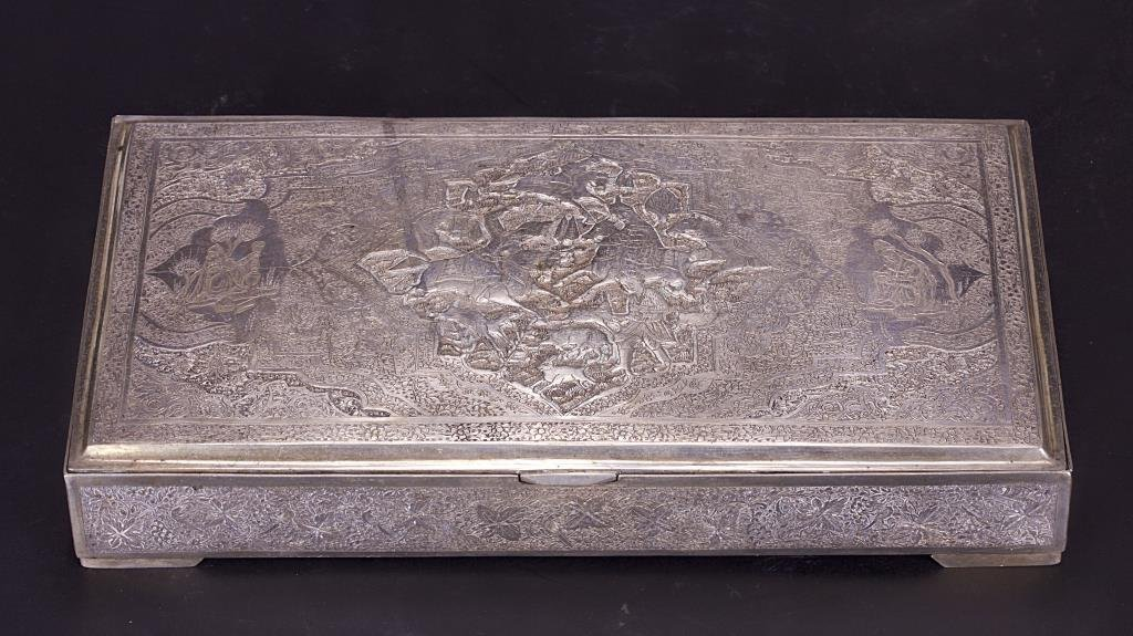 PERSIAN SILVER BOX, LIKELY BY VARTAN FATHER