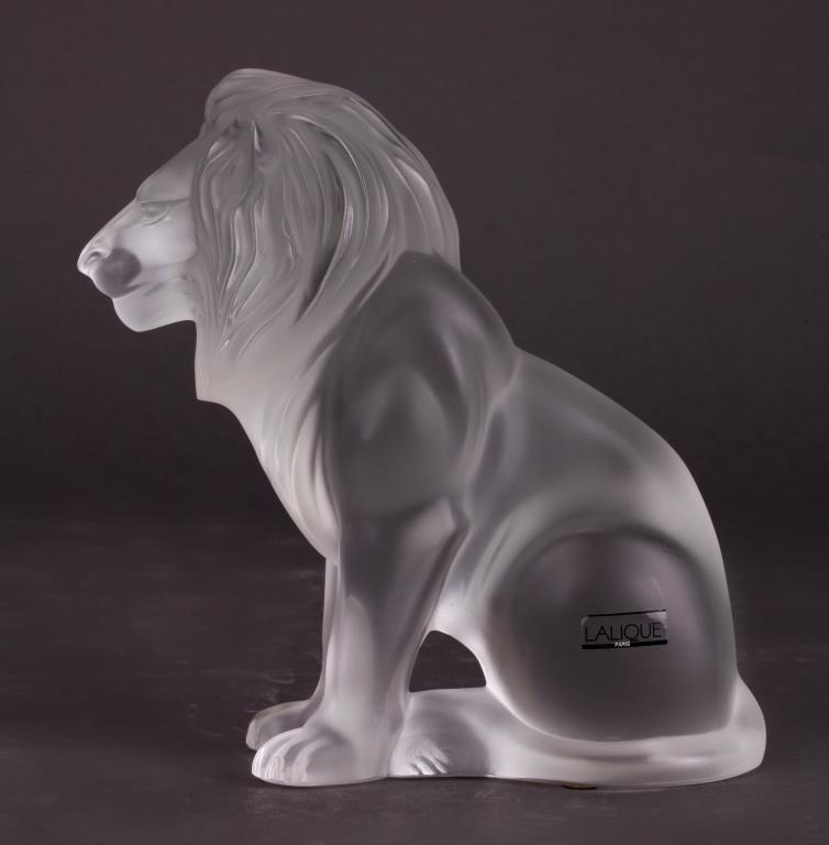 LALIQUE BAMARA LION FIGURE